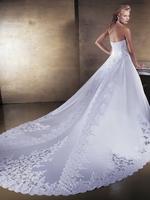Ball Grow Halter Royal Train  Floor-Length  Satin Wedding Dress With Embroidery HWGJWD291