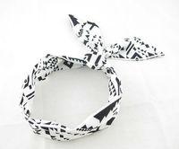(10pieces/lot)  Black Geometric  Women's  Hair Accessory  Rabbit  Ear  Headwrap