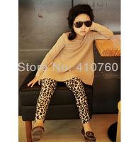 Retail cotton Leopard girls skirt legging pant girl's pants  Winter Autumn Baby children pant