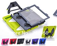 DHL Free Wholesale 6 pcs/ lot Heavy Duty Hybrid Combo Protector Case with Back Kickstand for Apple Ipad Mini/mini2 7.9''
