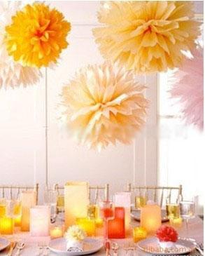 Spedizione gratuita 30pcs/lot 6 pollici carta velina pompon fiori di carta fai da te moda palla palle di fiori per matrimoni decorazione