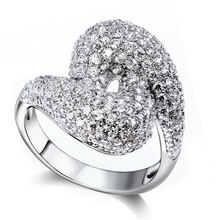 Top Grade Cubic Zirconia Crystal Wedding Rings Lovers Marriage Anniversary Gifts High Plating Quality Free Shipping SJ09799R