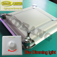 36W dimmable control LED modern square ceiling lamp Taiwan CHIMEI SMD 5630 chip white/warm white two-year warranty