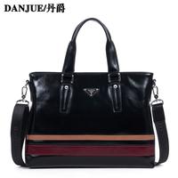 Cowhide shoulder bag messenger bag fashion commercial male casual bag
