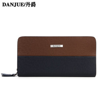 Color block cowhide clutch tidal current male clutch fashion clutch