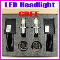 3600LM  50W Cree LED conversion kit Car Fog Led Big Lamp CREE CXA1512 Chips Super White H4,H7,H8,H9,9005,9006 etc LED headlight
