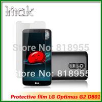 Free shipping,Original IMAK High Clear Glossy Screen Protector Anti fingerprint Film Guard for LG Optimus G2 D801 LS980