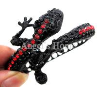 New Style Unique Christmas Gift Crystal Lizard Bracelets Black Plated Metal Bracelet Bangle For Women AM026