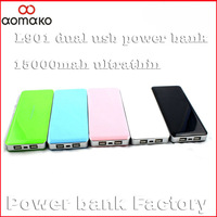 Freeshipping by HK/CPAM L901 external backup battery for android phone and laptop unltrathin portable power bank 15000MAH