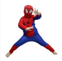 3 set/lot New 2013 Free shipping spider man costume spiderman suit spider-man costume child spider man ww059