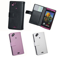 Free Shipping for Sony Xperia Arc S LT18i LT15i Luxury Wallet Leather Case, 2014 New Cell Phone Case + Flim + Touch Stylus