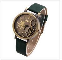 Fashion Vintage Watch for Women's Dress Watches retro zither PU Strap quartz watch analog wristwatches high quality
