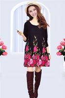 2014 New Woman O-Neck Long Print Sweater Dress Spring Autumn Women Winter Knitwear Cardigan Women's Pullovers Plus Large Size
