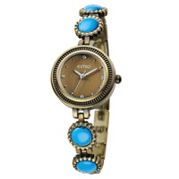 Brand Kimio Style Antique Design Brass Copper Chain Bracelet Women's Dress Watch With Stone Hot Sell WK486S