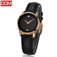 brand watch women watches Dom leather casual quartz wristwatches ladies casual watch relogio feminino reloj mujer montre femme