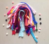 Multicolor Nylon Flower ,Silk Butterfly Stocking Making Accessory Handmade DIY Stocking(50pcs/Lot)