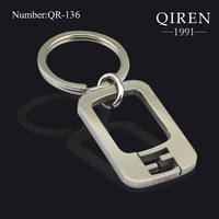 Top Quality Key Chain Famous Double F Stainless Steel Parts Holder Keyring 2013 Brand Design  QR-136