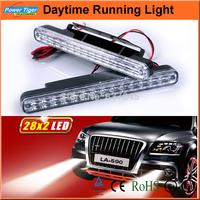 Universal 9-30V Waterproof Auto Car Truck Van Daytime Running Light Head Lamp White  2*28 LED DRL Daylight Kit ( LA-590)