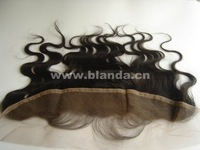"Blanda hair 13x2"" lace frontal Peruvian virgin hair body wave natural color #1b frontal with baby hair free ship"