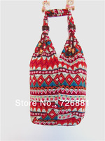 Free Shipping New Fashion National Trend Handmade Fabric Color Bag/Messenger Bags/Woman's Fashion Bag