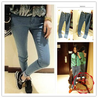 WJS001 2013 New skinny jeans  woman show thin  pencil pants jeans