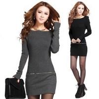 Pullovers Sweater Dress Medium-Long Thermal Slim Hip Mini Short Basic Dress Dress Women 2015 Spring Winter Fashion Knitwear Hot