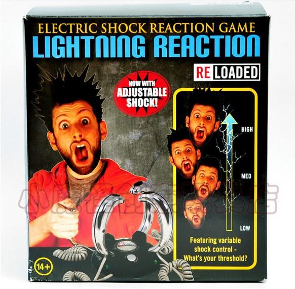 Free Shipping 4-People Lightning Reaction Revenge Electric Shock Game(China (Mainland))