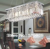 Free shipping K9 LED Crystal Chandelier rectangle led lamps modern ceiling bar lighting L800* W 250cm