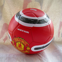 Free shipping 2013-2014 new style TPU material official size 5 soccer ball/ training football/red colour/32 panels 400-420g