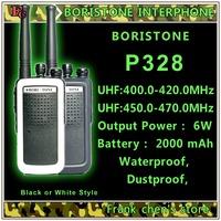 Handheld Walkie Talkie BORISTONE 6W Two-Way Radio UHF Band FM Transceiver  BORISTONE-P328 Free Shipping