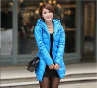 Free shipping 2013 fall and winter clothes women long down jacket. soft PU leather jacket Slim down cotton padded L XL XXL