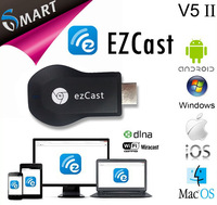 Newest Miracast wifi display tv dongle V5II airplay miracast dlna  HDCP key Support Windows/MacOS/Android/iOS