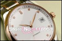 Hot new diamond scale calendar automatic movement waterproof stainless steel strap genuine sapphire crystal Swiss men's watch