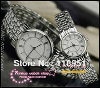 Luxury Rome scale thin waterproof strip Senior quartz movement sapphire crystal Swiss brand couple watch calendar display