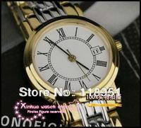 Swiss watch 3-pin thin Roman scale advanced quartz movement sapphire crystal strip calendar luxury business couple watch L143