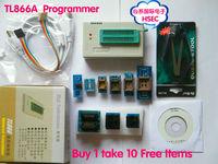 Free Shipping 100% Original New V6.0 Version MiniPro TL866A Programmer / TL866 Universal MCU Programmer + 10 free Items