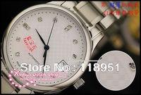 Swiss watch mechanical movement sapphire diamond steel gift choice! High quality luxury business couple watch L139