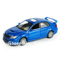 Alloy Car Model for Children 1:32 SUBARU WRX STI 2010 Toy Vehicle Simulation Pull Back Diecast Inertia Toys  Free Shipping