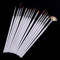 Professional Nail Art Paint Drawing Pen/Brush 16pcs/set White Color Wholesale
