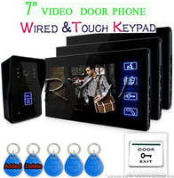 DHL Shipping 7'Video ID Door Phone Intercom Access Doorbell Touch Key Camera Monitor Security System RFID Keyfobs Home Security