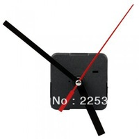 20pcs/lot Quartz Clock Movement Mechanism DIY Repair Parts Black + Hands