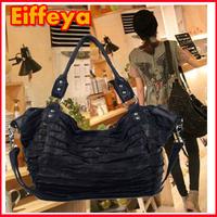2 Colors !! Genuine Leather Handbags Lambskin Patchwork Color Block Hand Bag Women Shoulder Cross-body Bag