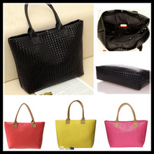 2013 New Fashion Designer Black Plaid Pu Leather Woman Messenger Bags watermelon red handbag 1PCS/Lot(China (Mainland))