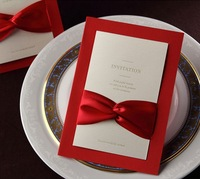 wedding party invitation card, elegant Customized marriage greeting kit ,100sets/lot, Express free shipping
