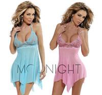 2014 Fashion Sale Hot 3colors Sexy Lingerie Lady's diaphanous pajama lace skirt Sleepwear plus Size M XL 2XL 3XL 4XL 5XL