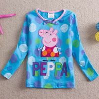 Free shipping Retail Brand Nova Kids Baby T shirt Peppa pig long sleeve