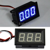 15pcs/Lot Wholesale New Mini Blue LED Panel Meter Digital Voltmeter Volt Voltage Meter DC 0-30V  TK0601