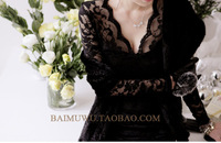 dresses new fashion 2013  autumn and winter  women's plus size slim tight  hip sexy one-piece dress long-sleeve basic