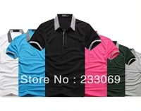 2013 Summer Arrival Quality Fashion brand Men's shirt Short Sleeve Polo shirt Causal Men Shirt M L XL XXL