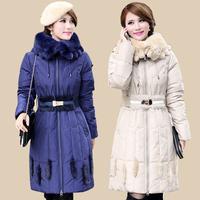 Women Down Coat Long Parkas Luxury Rabbit Fur Hood Duck Down Jacket Women Winter Jacket Women Winter Coat Outerwear & Coats8163